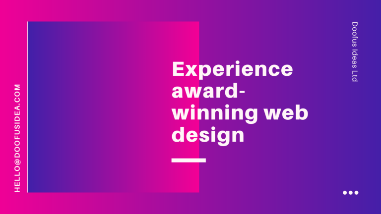 Experience award-winning web design